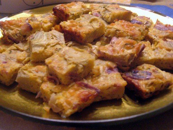 Artichoke Quiche Squares