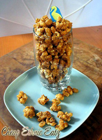Cracker Jacks Popcorn glass