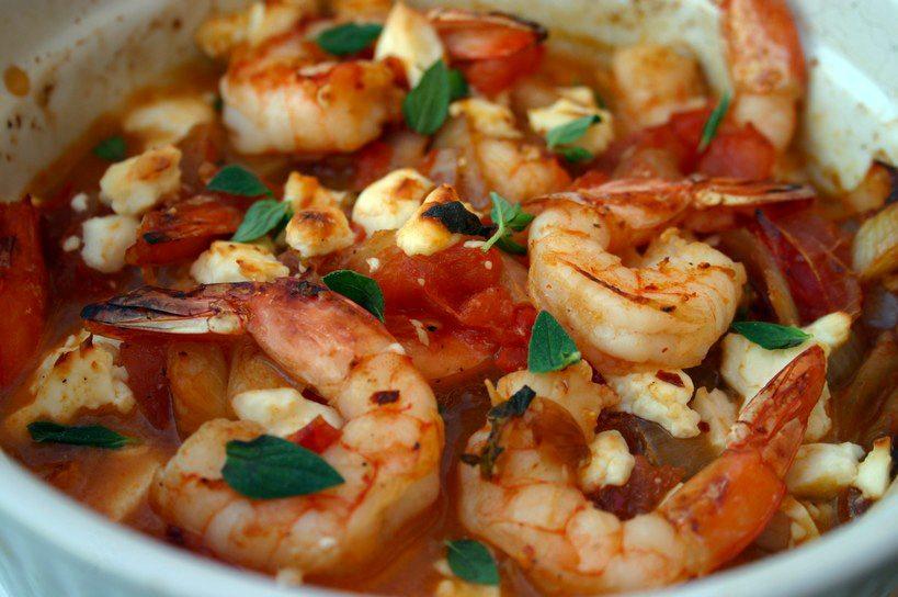 Garides Saganaki (Shrimp Saganaki) on Closet Cooking