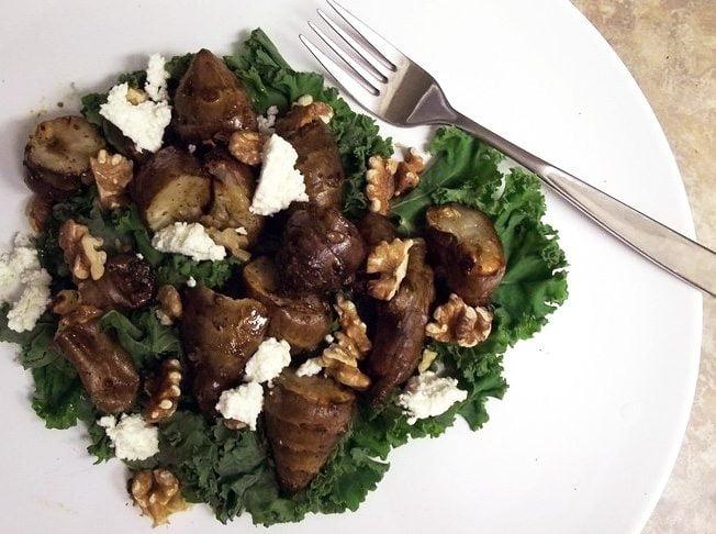 The Kale & Hedgehog Mushroom Salad
