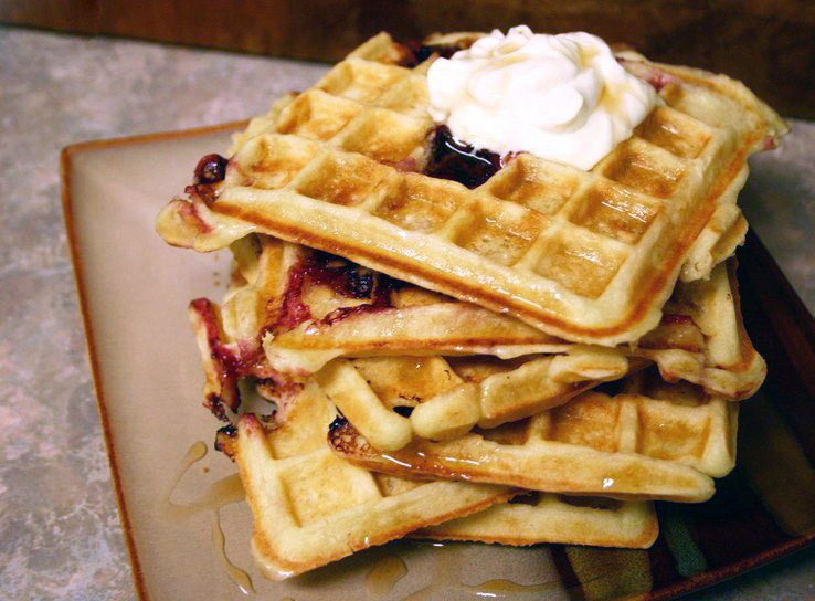 Cornmeal Waffles and Waffle Brownies