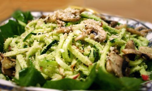 pesto spaghetti 035