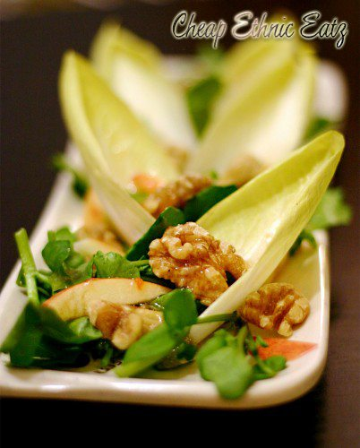 Watercress Endive Salad with Walnuts and Vinaigrette 2