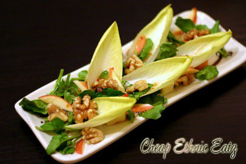 Watercress Endive Salad with Walnuts and Vinaigrette 3