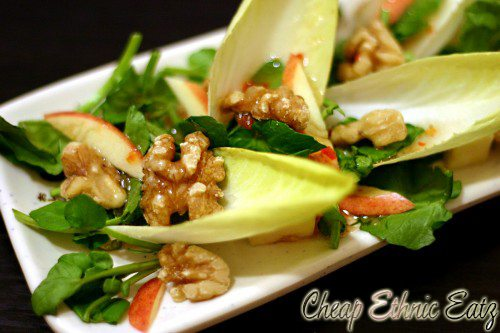 Watercress Endive Salad with Walnuts and Vinaigrette 4