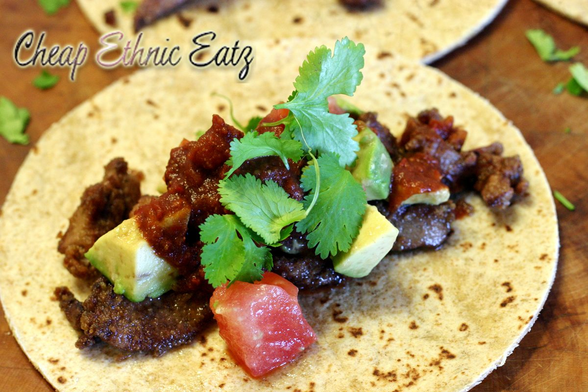 taco with mole sauce