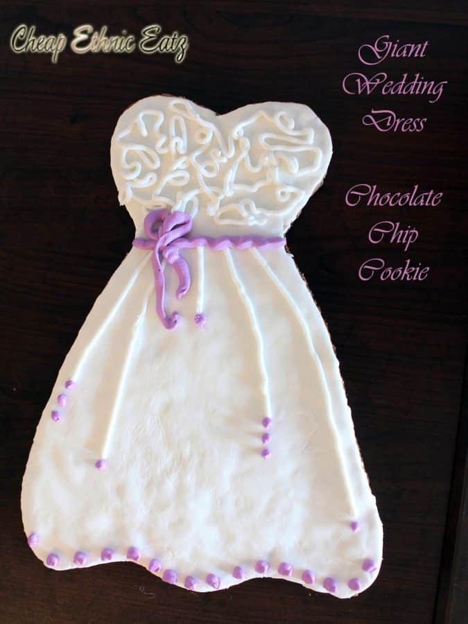 Giant Wedding Dress Chocolate Chip Cookie