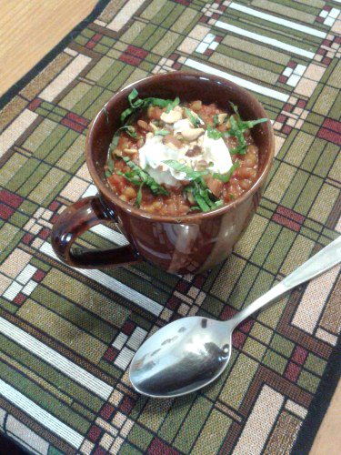 lentils in acup