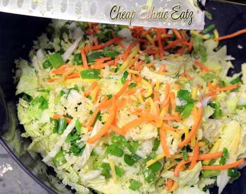 Thai Cabbage Salad veggies