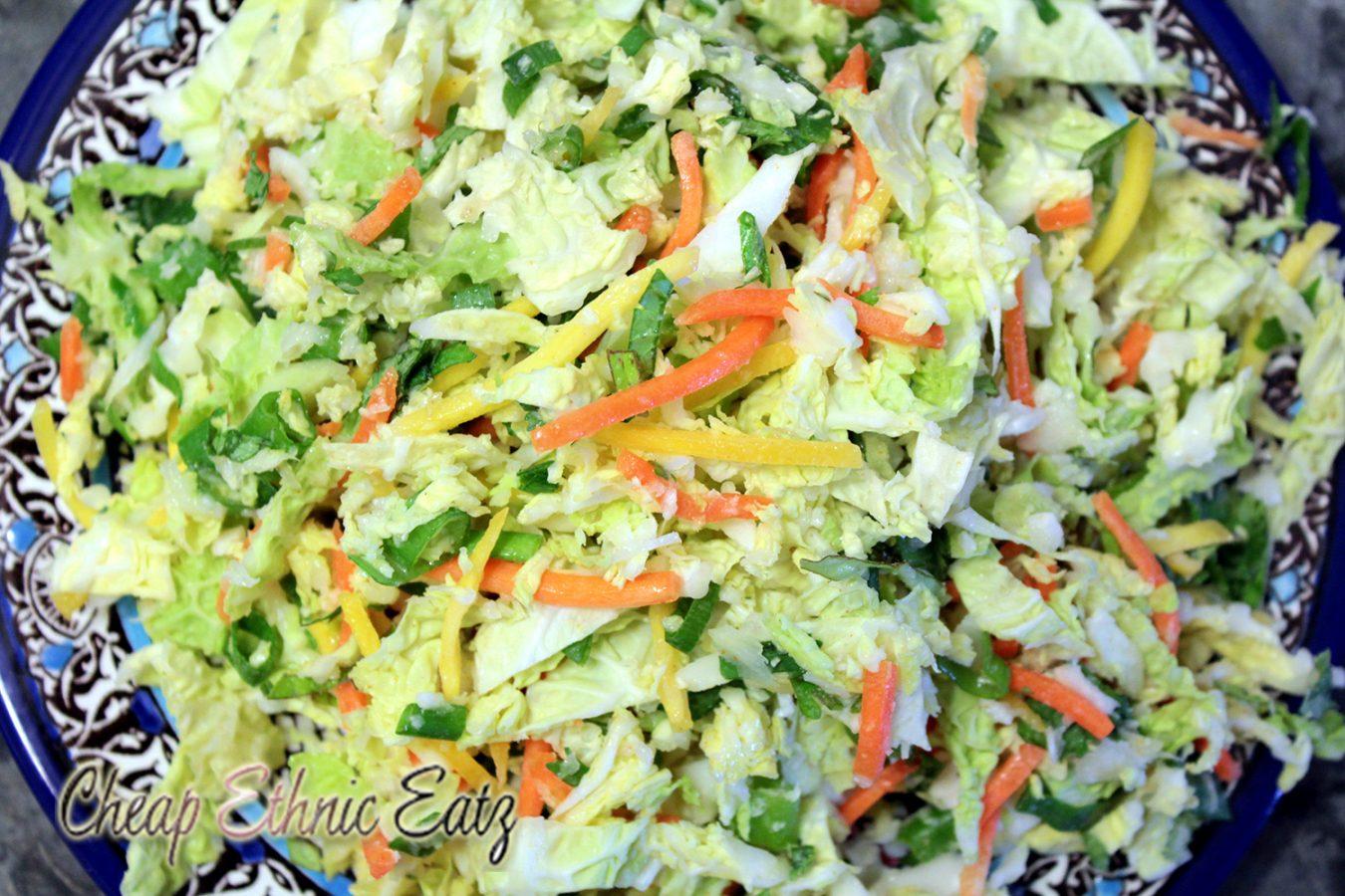 Crunchy Colorful Thai Cabbage Salad & the 4th annual Food Film Marathon