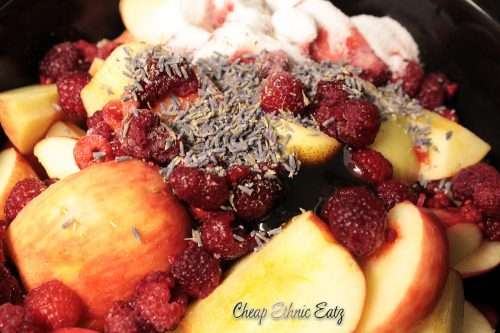Bourbon Lavender Raspberry Applesauce mix