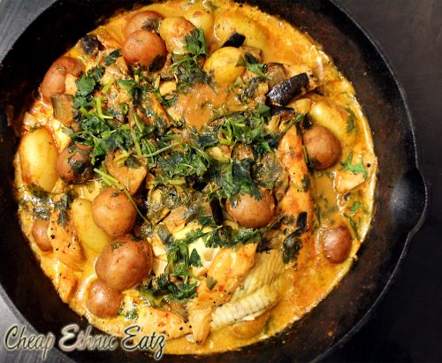 Smoky brazilian fish and potato stew moqueca cultureatz for Fish stew with potatoes