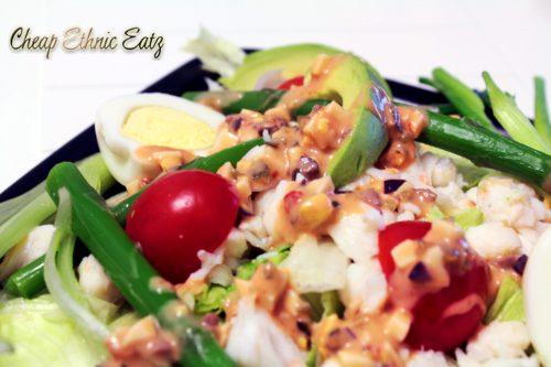 crab louie salad closeup