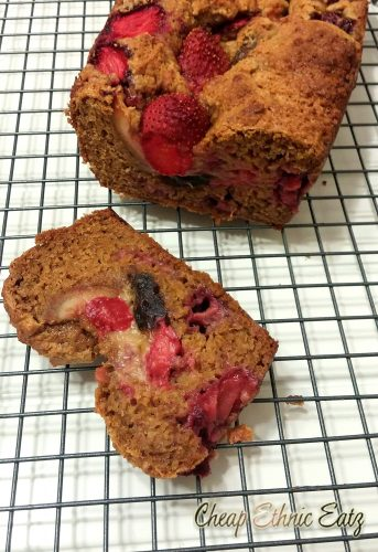 Strawberry and Date Malted Loaf slice