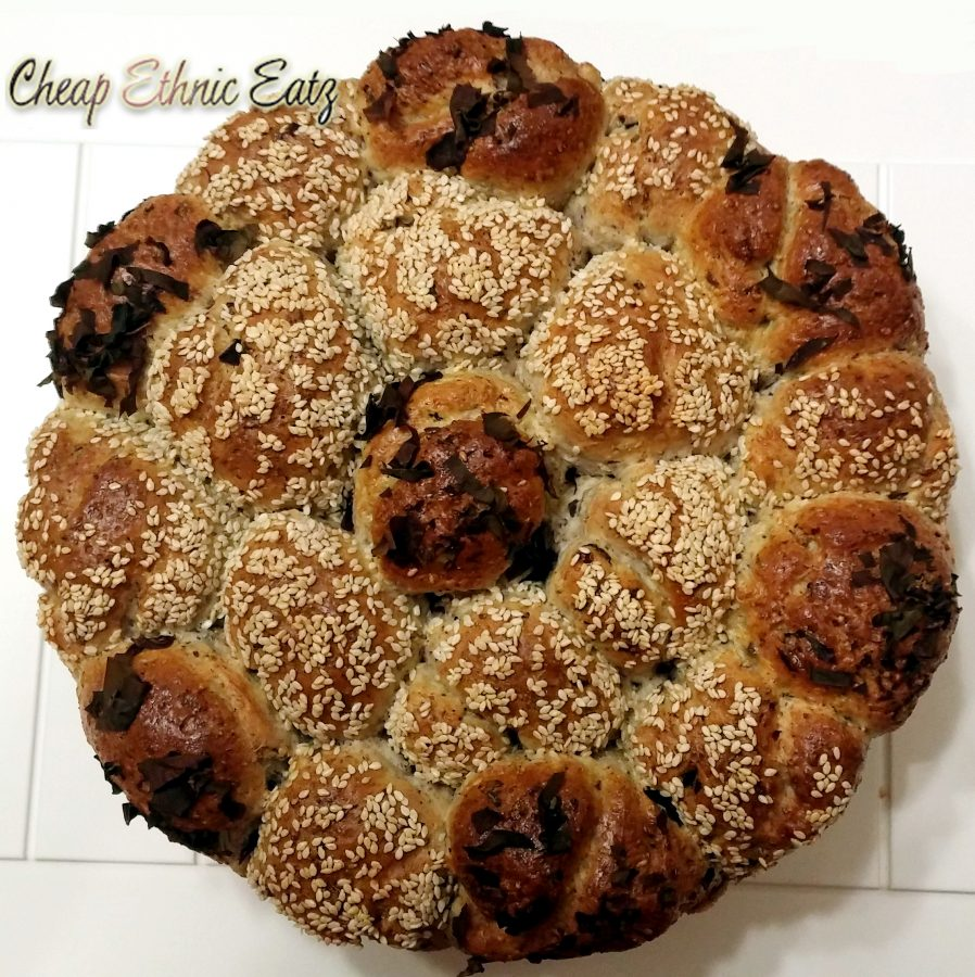 Dusle Pull Apart Rolls with Chia Flax and Sesame Seeds