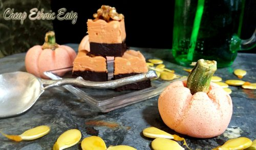 Peanut Butter Fudge and Ganache Tombstones squares
