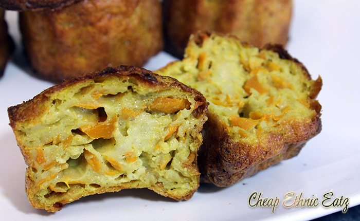 carrot curry caneles inside