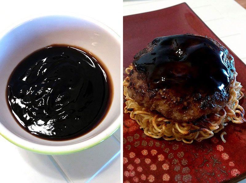 teriyaki Ramen Burger sauce
