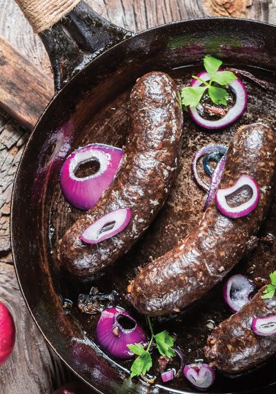 vegan beauty boudin noir sausage