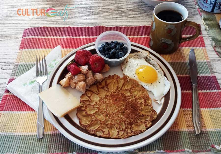 cattail pancakes breakfast