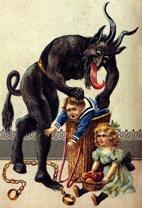 A 1900s Krampus greeting card