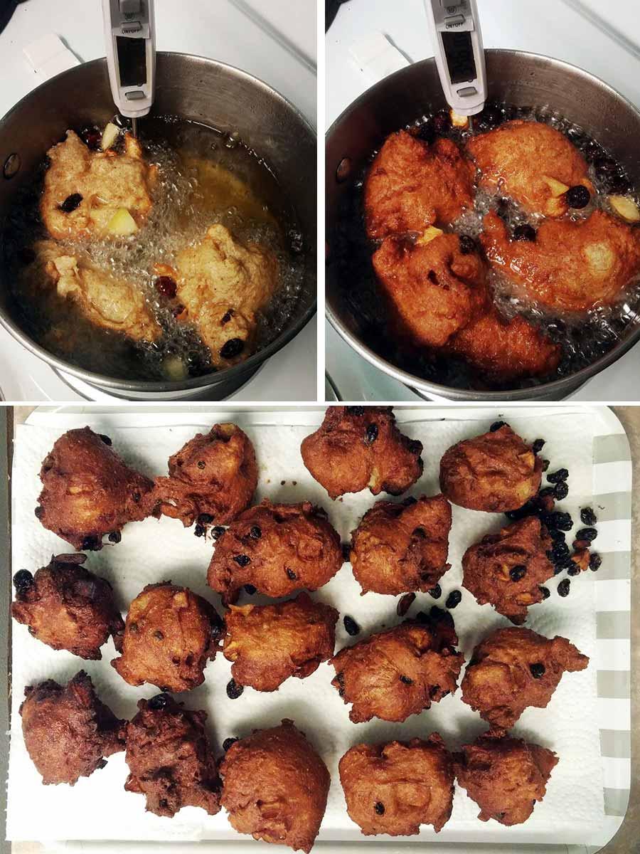 frying the Oliebollen