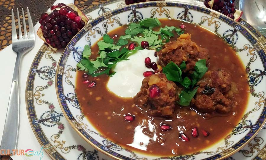 Ashe Anar pomegranate soup