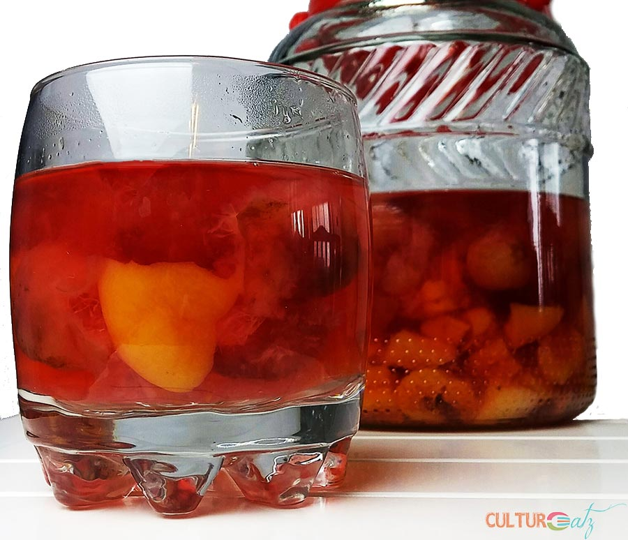 Sweet Sipping on a Cherry Apricot Bulgarian Kompot