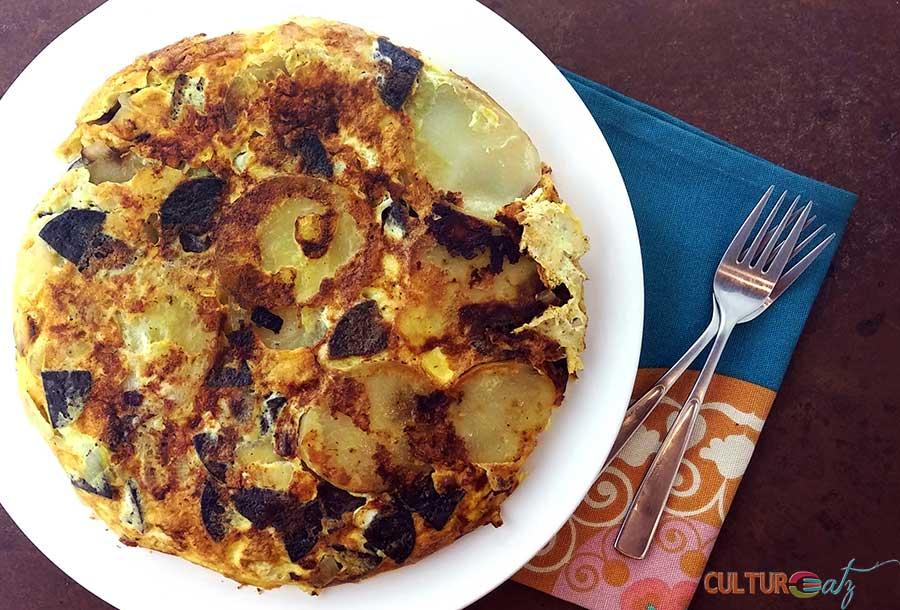 Tortilla de Morcilla | Spanish Omelette with Blood Sausage