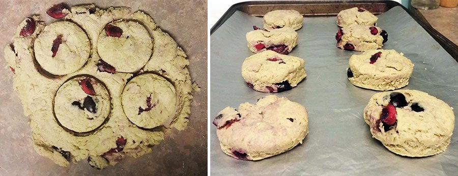 Cherry Matcha Scones dough