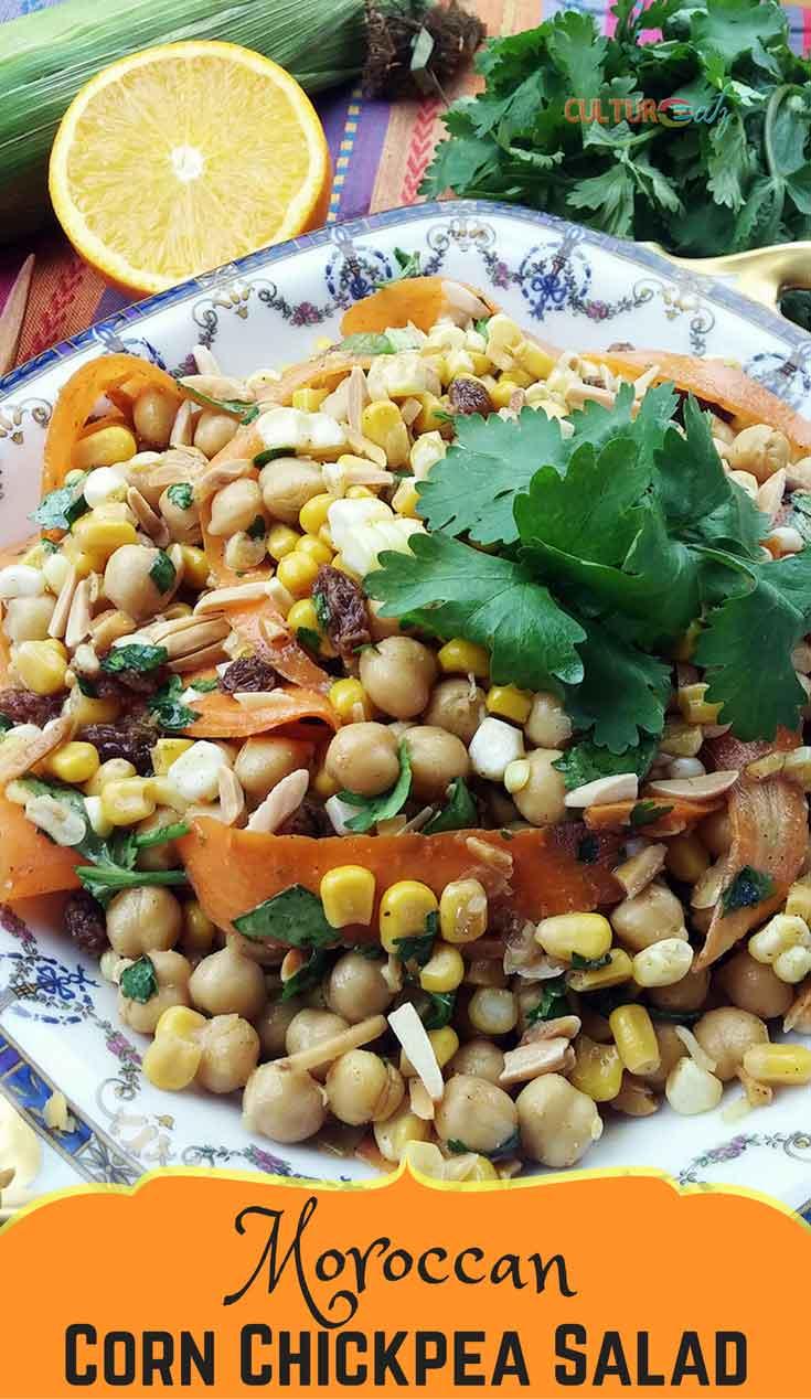 A Striking Moroccan Corn Chickpea Salad