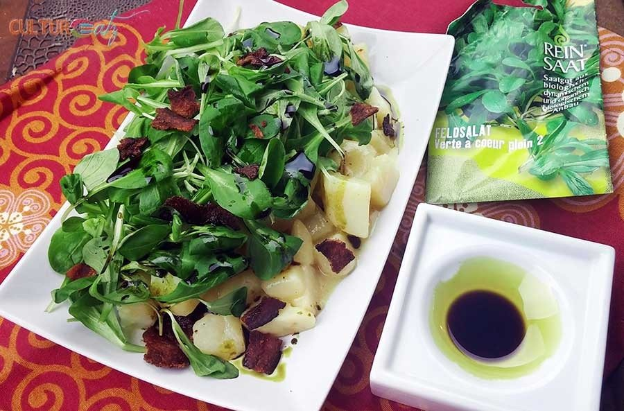 Styrian Potato Field Salad   Erdäpfel Vogerlsalat
