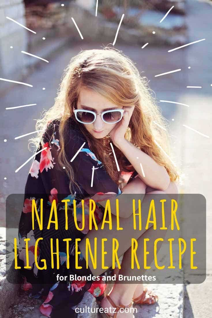 hair lightener recipe pin