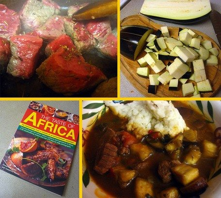 On the way to Gambia: Beef in Aubergine Sauce