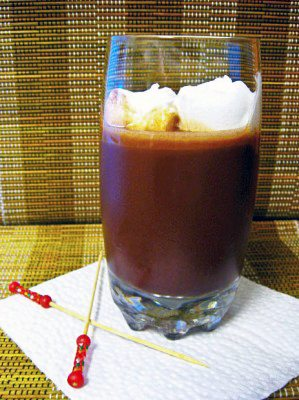 Brazilian Dishes iced chocolate drink