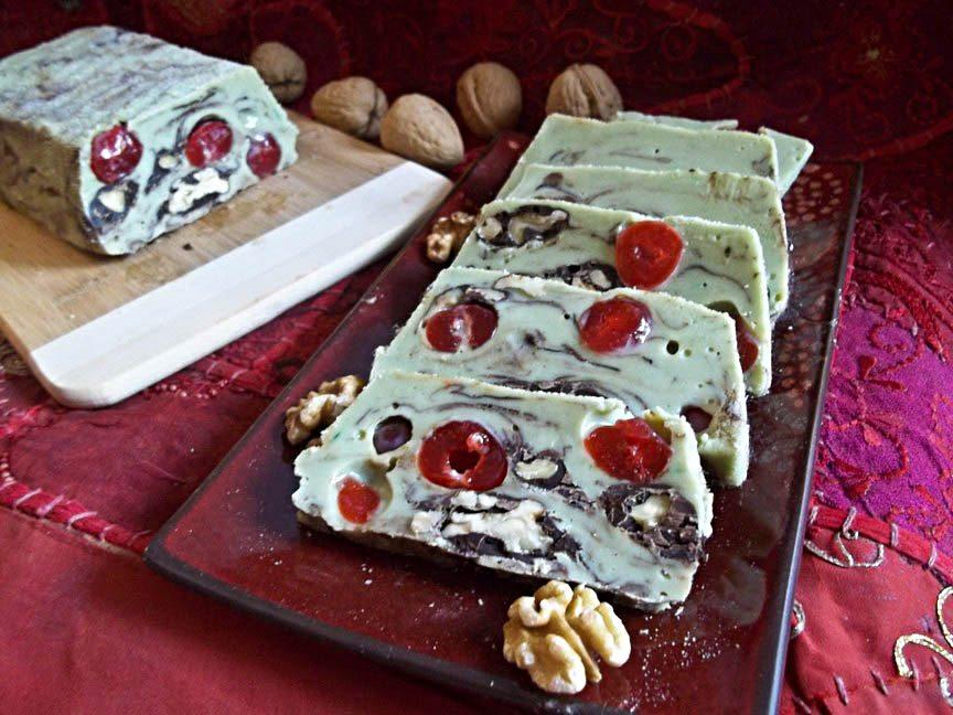 Matcha Fudge Fruit Cake