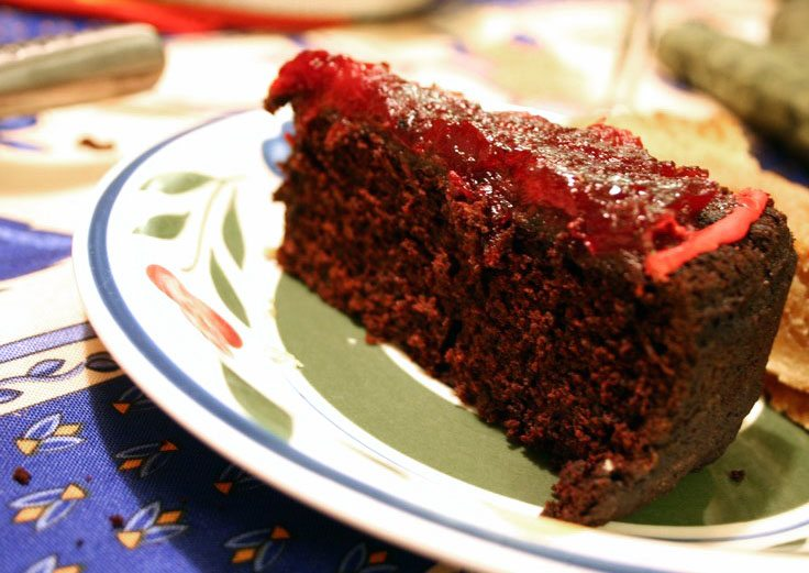 chocolate cranberry cake 073
