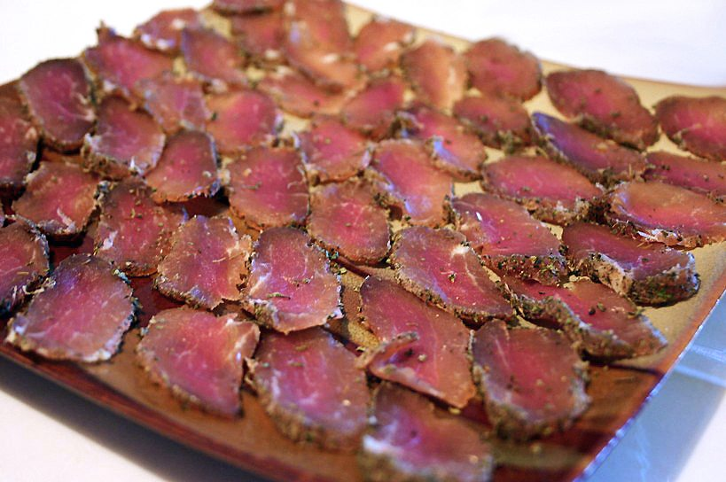 CCC: Cured Pork with Caramelized Apples on a bead of Potato Paillasson