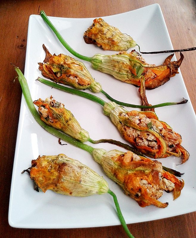 CCC: Baked Stuffed Zucchini Blossoms