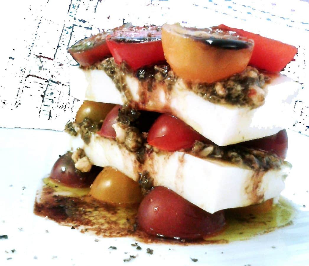 The No Cook No Bake Cookbook: Tofu Carpese Stacks and Fig Chia Jam