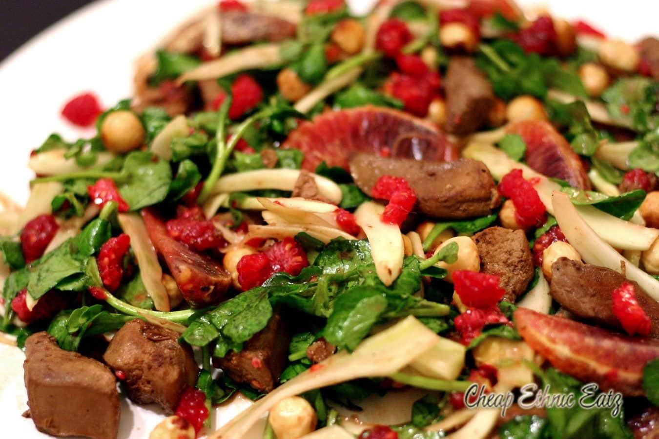 Lamb Liver Raspberries and Hazelnut Salad 2