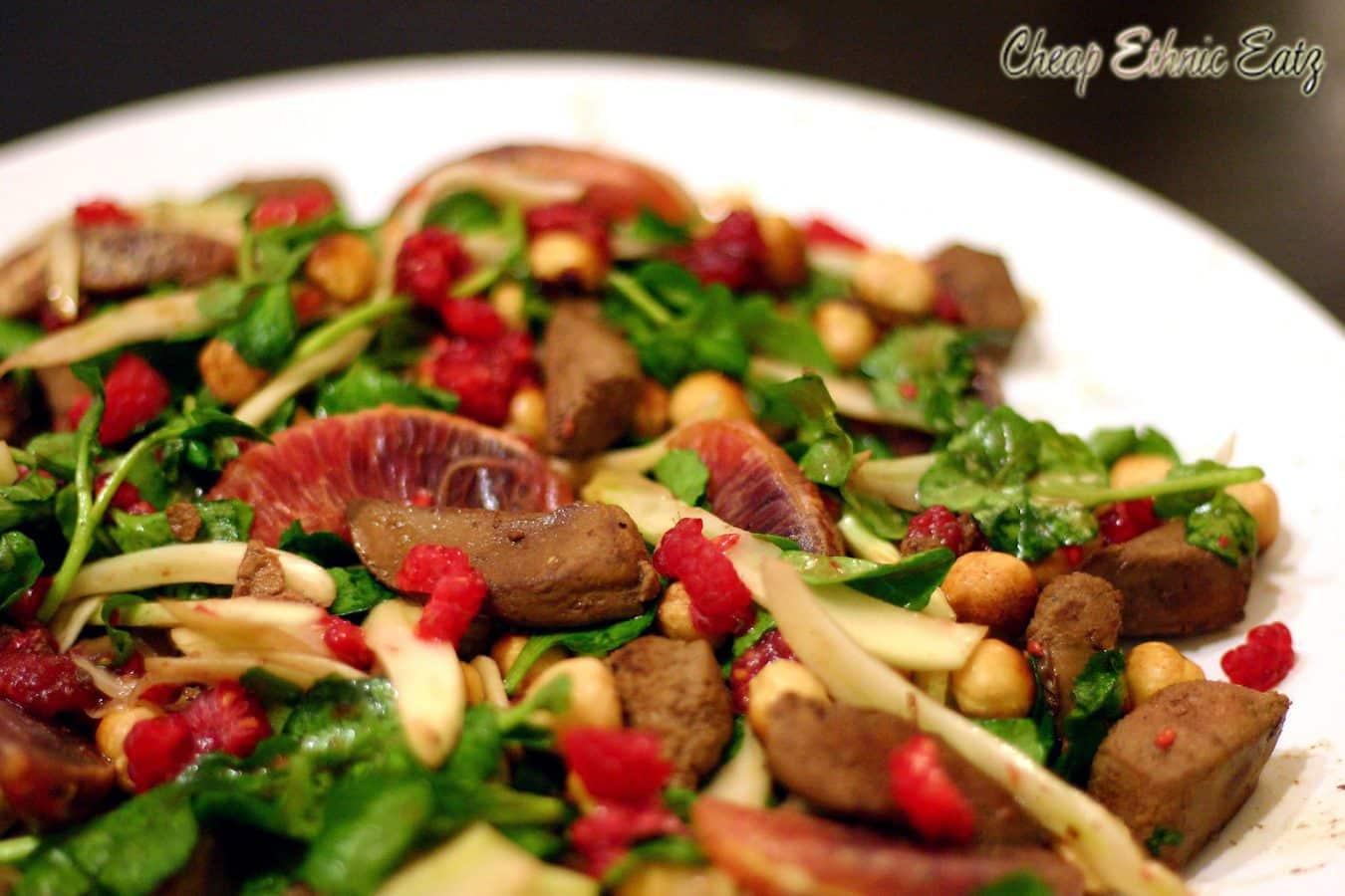 Lamb Liver Raspberries and Hazelnut Salad 3