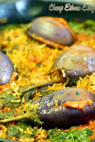 Stuffed Baby Eggplants in a Dirty Rice Pilaf 03