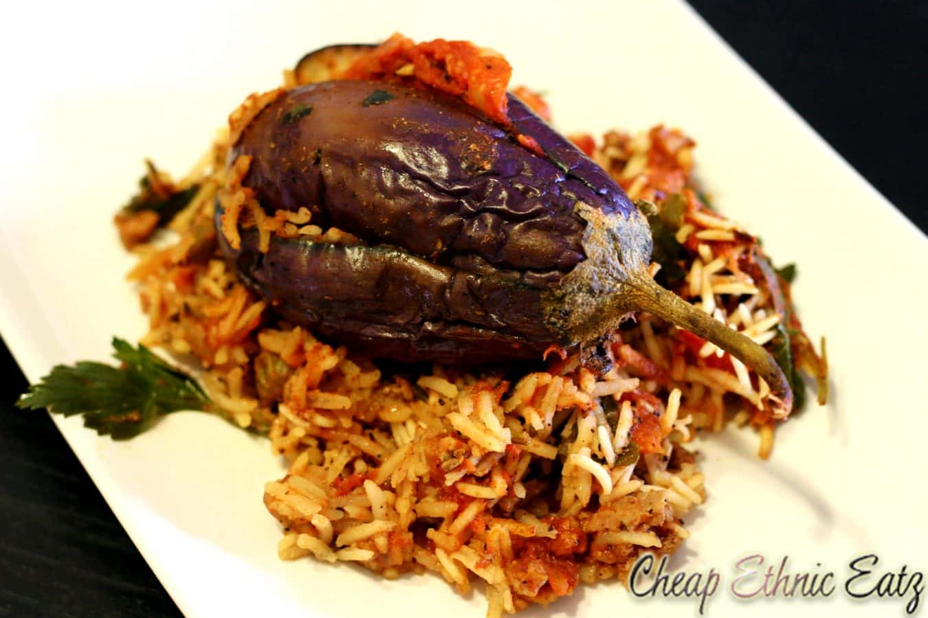 Stuffed Baby Eggplants in a Dirty Rice Pilaf 04