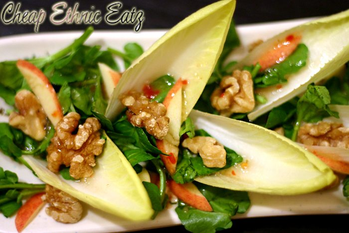 Watercress Endive Salad with Walnuts and Vinaigrette 1