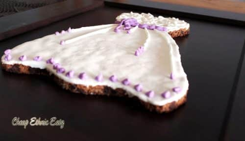 Wedding dress cookie 09
