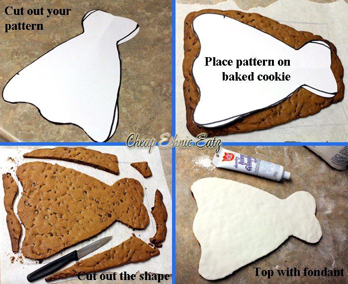 bride dress cookie preparation