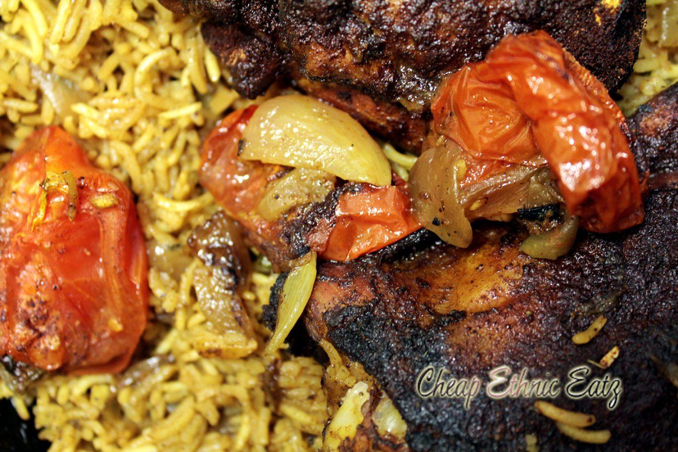 Bahraini Chicken Machboos close
