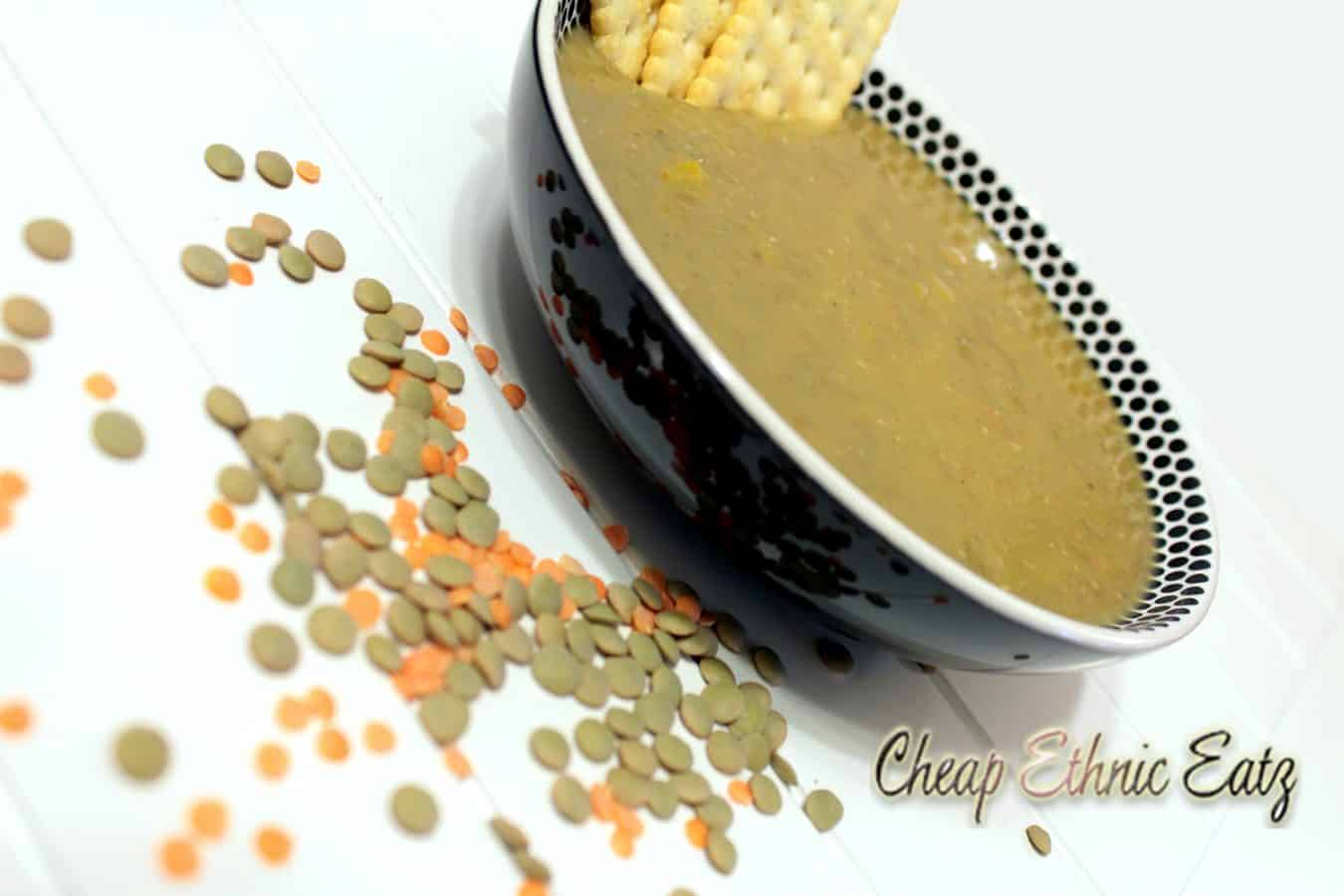 Egyptian Lentil Soup side