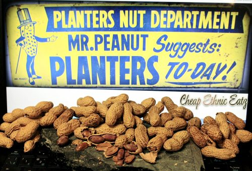 salted and roasted peanuts